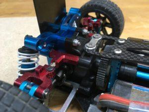 TT-01 Alu + Carbon Hinterradaufhängung